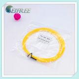 FC / UPC fibra óptica flexible de conexión, solo modo PVC amarillo chaqueta 2.0mm