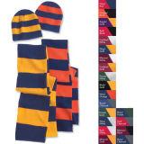 Chapeau en bambou en acrylique Jacquard Beanie Chapeau en tricot personnalisé POM POM Bonnet Bonnet avec écharpe