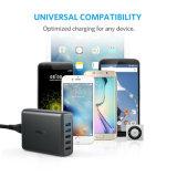 이중 빠른 책임 3.0 포트를 가진 Anker 63W 5 포트 USB 벽 충전기, Samsung 은하 S7/S6/Edge/Edge+를 위한 Anker Powerport 속도 5, 주 4/5, LG G4/G5, 및 더 많은 것