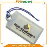 Tag colorido personalizado da bagagem do PVC do logotipo