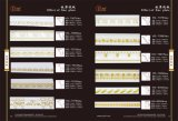 Matériau de décoration de mousse d'unité centrale pour la garniture intérieure, moulages de corniche d'unité centrale