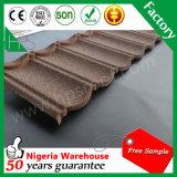 Telha de telhado revestida do metal da pedra resistente de alta temperatura da cor