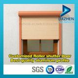 Profil en aluminium d'extrusion pour la taille personnalisée par guichet de porte d'obturateur de roulement de rouleau