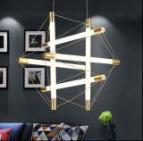 Diodo emissor de luz moderno do candelabro da sala de visitas da forma de Dlss que pendura a lâmpada de vidro creativa do pendente