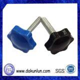 Подгонянный Knurling стальной пальцевой винт с черной плакировкой никеля (DKL-S010)