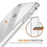 caja de los parachoques de la transparencia TPU de la cubierta HD del caso del iPhone 7