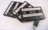 Mecanismo impulsor del flash del USB de la cinta de cassette de la capacidad del regalo 512MB-64GB de la promoción con insignia de encargo