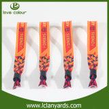 Bracelets de tissu d'événement de modèle de bande de qualité pour moins