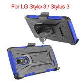 Caja del teléfono del clip de la correa de la pistolera para la aguja 3 del LG Stylo