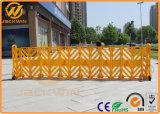 Bewegliche maximale 3.9 Meter expandierbare Plastikbarrikade-Gelb-Farben-