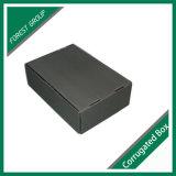 은 각인 로고 검정 골판지 상자
