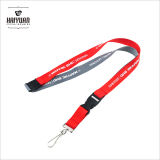 Double Face Satin Ribbon Lanyard with Woven Logo