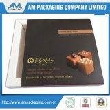 Роскошные цветастые коробки ящика для трюфеля шоколада подарков кладут упаковку в коробку с ясным окном