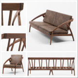Jeu moderne de sofa de hêtre de chêne de noix de meubles de chambre à coucher de salle de séjour