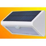 Luz ao ar livre solar da parede do diodo emissor de luz da qualidade agradável