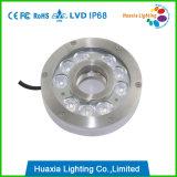 316 lumière de fontaine de l'acier inoxydable RVB DEL