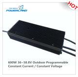 alimentazione elettrica costante programmabile esterna della corrente LED di 600W 12.5A 36~58.8V
