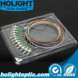 Fibra Pigtailset óptico FC APC 0.9m m de 12 colores unimodales