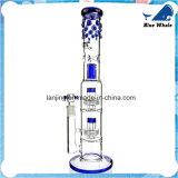 Doppelter Spritzen-Schutz GlasWaterpipe mit Eis-Klemme