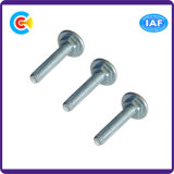 Acier au carbone M8 Galvanisé Hexagonal Round / Flat Head Carriage / Square Neck Screw