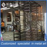 Suppermarket/Retailstoreのための工場製造所304#のヘアラインステンレス鋼の陳列だな