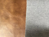Couro sintético gravado do plutônio para a tampa de assento do carro da mobília do sofá