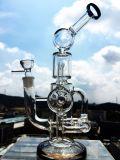 Hitman-Wirbelsturm-schwieriges doppeltes Recycler-SchneckenPerc rauchendes Wasser-Glasrohr 2017