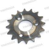 1/2 X 25c-16 Textilmaschinen-Teile des Zahn-Rad-100-025-009 für Ggt Spreizer