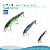 Señuelo artificial plástico selecto de la pesca del agua de la tapa del cebo del pescador con Vmc los ganchos de leva agudos (SB3009)