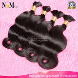 加工されていない毛ブラジルボディ波の人間の総合的な毛のよこ糸でまっすぐに縫いなさい