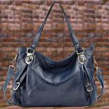 Sacchetto di spalla del Tote del cuoio genuino della borsa 100% delle donne grande Emg4874