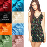 Satén de seda impreso Digitaces 100% de la naturaleza del diseño de la manera para la ropa de noche de las señoras