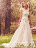 레이스 신부 무도회복 모자는 에이라인 결혼 예복 W176285를 소매를 단다