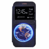 Móvil de la impresión del cuero de la PU del OEM/caja del teléfono celular para Samsung S7/S7edge