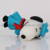 Movimentação Snoopy do flash do USB do PVC do chapéu azul (UL-PVC017-02)