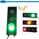 Luz roja de la señal de tráfico del verde amarillo del comerciante 100m m