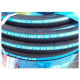 """3/4 """"CE probó alta presión DIN EN 856 4SH 4 alambre hidráulico Manguera de goma"""