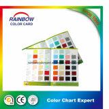 Impresión de la tarjeta del color de la pintura de la pared del material de construcción