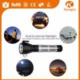 Torcia chiara solare LED della torcia dell'alluminio della torcia elettrica ricaricabile ultra luminosa della torcia elettrica con la radio