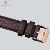Reloj impermeable 72085 del cuero de los hombres del cuarzo de la manera del Wristband del acero inoxidable