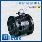Didtek DIN Pn40 служило фланцем конец выковало шариковый клапан 2 частей плавая