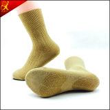 Calcetería de goma hecha punto adulto de las plantas del pie de los calcetines antirresbaladizos de la alta calidad