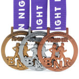 Medaglia corrente 7km in lega di zinco personalizzata di sport del premio