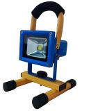 Luz de inundação recarregável ao ar livre do diodo emissor de luz 10-50W da venda quente