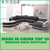 Sofá de lujo de Leder de la sala de estar europea del estilo