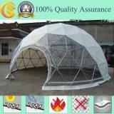 Роскошный шатер геодезический купола с ясной тканью PVC или белым PVC
