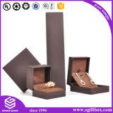 Gute Qualitätsgeschenk-Schwarz-Papierverpackenschmucksache-Kasten