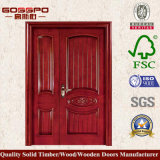 Sapeleの国内戦線のドアデザイン等しくない二重木製のドア(XS1-009)