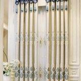 ヨーロッパの贅沢なシュニールの刺繍の停電の窓カーテン(09F0041)