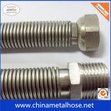 Manguito del metal flexible del acero inoxidable 304 con tejidos